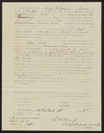 1864: Pay certificate at discharge, Oliver H. Harrington, corporal, Company H, Second Regiment, Arkansas Infantry volunteers