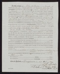 1863 October 3: Pay certificate at discharge, John M. Walker, private, Company H, First Regiment, Arkansas Cavalry volunteers