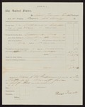 1863 May 1-1863 August 21: Voucher for pay certificate at discharge, Thomas Farrell, Company H, First Regiment, Arkansas Cavalry volunteers