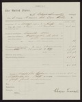 1863 May 1-1863 July 1: voucher for pay certificate at discharge, Eleazer Lemaster, private, Company B, First Regiment, Arkansas Cavalry volunteers