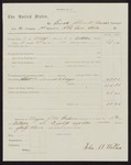 1863 May 1-1863 October 3: Voucher for pay certificate at discharge, John M. Walker, Company H, First Regiment, Arkansas Cavalry volunteers