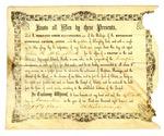 John H. McCulloch deacon ordination certificate, 1855 November 18