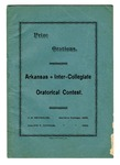 Arkansas Inter-Collegiate Oratorical Contest pamphlet, 1892 April 29