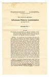 Arkansas History Commission Act, 1905 April 27