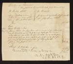 1828 May 07: Voucher, U.S. v. Mary Matlock Adams and Joshua Fuqua, administrator of the estate of William Matlock, deceased; D.J. Witler, sheriff; A.M. Oakley, clerk