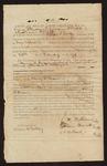 1836 February 26: Bond, of Henry H. Brown, Ephraim Minck, and Abraham Black; William S. Fulton, Governor; Allen M. Oakley, witness of signatures