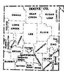 Boone County townships map, 1930