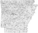 Arkansas Minor Civil Divisions Map, 1930