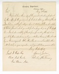 1866 January 20: Letter from Edward Jordan, Solicitor of the Treasury, transmitting forms and instructions for making reports, to Samuel Cooper, clerk of District Court, Van Buren, Arkansas