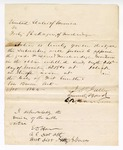 1866 November 24: U.S. v. Forty Packages of Merchandise, notice of appraisal filed by J.W. Fuller, Samuel Bond, and E.B. Morrison; service acknowledged by E.D. Ham, U.S. District Attorney, Western District of Arkansas