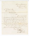 1867 February 7: Letter from Comptroller's Office, Treasury Department, to Samuel F. Cooper, clerk, U.S. Court, Van Buren, Arkansas, regarding adjustment of account of fees and attendance for 1866 July 1 through 1866 December 31