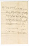 1867 June 4: Warrant for defendant, in U.S. v. Augustus Cameron, driving and moving cattle from the Indian country; taken into custody by L. C. White, marshal; Trammel, deputy