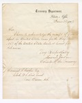 1867 June 29: Letter from Edward Jordan, Solicitor of the Treasury, acknowledging receipt of report of cases for May term of court, from Samuel Cooper, clerk, U.S. District Court, Van Buren, Arkansas