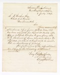 1867 July 8: Letter from First Comptroller's Office, Treasury Department, to Samuel F. Cooper, clerk, U. S. Court, Van Buren, Arkansas, regarding adjustment of account of fees and attendance for 1867 May 13-31