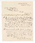 1867 September 16: Letter from H. C. Caldwell, of Little Rock, to John Ogden, deputy clerk, of Van Buren, regarding property involved in bankruptcy