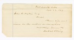 1867 September 27: DuVal and King, of Fort Smith, to John Ogden, note to file and issue writs