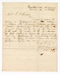 1867 October 23: Subpoena request to Colonel S.F. Cooper for William J. Putten, Revenue Collector of the Eastern District of Arkansas, of Little Rock, signed E.D. Ham, U.S. District Attorney, Fayetteville