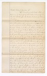 1868 November 16: U.S. v. Horses, Mules, Goods, Wares, and Merchandise (F. A. DeWolf and Co.); Writ from Solmon P. Chase, Chief Justice of the U.S. Supreme Court to Judge of Court of Western District of Arkansas, to send all records to Washington, D.C., for Supreme Court, in case of Alexander McDonald, Charles A. Clark, George Weeks, Edward Brooks, and John Seymour; filed J. O. Churchill, clerk