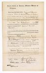 1869 May 22: Bond for appearance of Samuel Garvin, William A. Dibrell, James M. Gardner, in U.S. v. Samuel Garvin, larceny; James O. Churchill, clerk [3 copies]