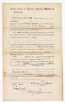 1869 July 7: Bond for appearance, Caroline Harris, in U.S. v. George Glassby, William Lyons, and Nelson Miller, for rape; James O. Churchill, clerk