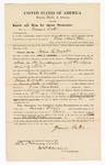 1870 February 26: Bond for witness, James Oates, in U.S. v. John L. Woods, where Woods is charged with opening a letter while in the employment of the Post Office Department of the United States; James Churchill, commissioner
