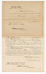 1870 March 24: Bond for appearance, U.S. v. Jack Williamson, selling liquor without having obtained a license therefor as by law he was required to do, or paying the special tax thereon; David Williams, surety; James Churchill, commissioner