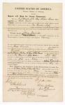 1870 March 31: Bond for witnesses, M.J. Mickle, J.G. Pury, and Richard Corm, and Bill Frank, in U.S. v. Jesse Wordell, larceny; Edward Brooks, commissioner