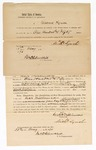 1870 May 13: Bond for appearance, U.S. v. Jack Williamson, selling liquor to Indians; found guilty and awaiting sentence; Michael Lynch, surety; James Churchill, commissioner