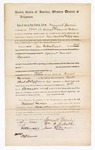 1869 May 22: Bond for appearance of Samuel Garvin, William A. Dibrell, James M. Gardner, in U.S. v. Samuel Garvin, larceny; James O. Churchill, clerk [3 copies]