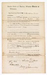 1869 July 7: Bond for appearance, Caroline Harris, in U.S. v. George Glassby, William Lyons, and Nelson Miller, for rape; James O. Churchill, clerk