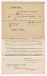 1869 October 21: Bond for appearance, of William G. Williams, William L. Taylor, and Benton J. Brown, in U.S. v. William Williams, larceny; James O. Churchill, U.S. commissioner