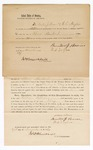 1869 November 29: Bond for appearance, William Williams, Benton Brown, and W. L. Taylor, in U.S. v. William Williams, larceny; James O. Churchill, commissioner