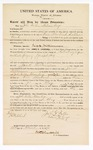 1870 March 25: Bond for witnesses, John Fuller and Nelson Cogs, in U.S. v. Jack Williamson, being a retail liquor dealer and not paying tax; James Churchill, commissioner