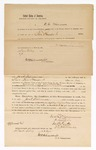 1870 May 14: Bond for appearance, U.S. v. Jack Williamson, where Williamson was indicted by the Grand Jury for carrying on the business of a wholesale and retail liquor dealer without paying special tax; D.C. Williams, surety; also signed by E.G. Whitesides, and M.F. Locke