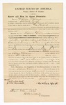 1870 May 16: Bond for appearance, U.S. v. William Williams, for larceny; Michael Lynch, surety; James Churchill, commissioner