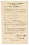 1870 May 23: Bond for defendant, day to day, in U.S. v. Tandy Walker, indicted for manufacturing tobacco without paying special tax of complying with the regulations thereto; James Churchill, commissioner