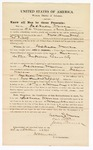 1870 October 22: Bond for appearance, U.S. v. Jackson Warner, for larceny in the Indian country; D. C. Williams and Jesse Turner, sureties; James Churchill, commissioner