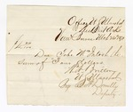 1871 March 24: Voucher to Tobe McIntosh by Office, U.S. Marshall, Van Buren, W. A. Britton, marshal, by R. A. Donnelly, deputy; receipted to J. Haymaker