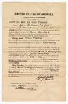 1871 April: Bond for witnesses John O. Cobb and Calvin J. Hanks in U.S. v. John Wicked, for larceny; James Churchill, commissioner