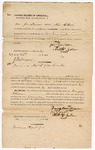 1871 September 23: Bond for appearance, U.S. v. Douglas Wisener, for introducing whiskey into the Indian country; Joe Davidson and Ned Gibson, sureties; J. Parkinson, Indian Agent for Creeks