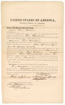 1871 October 10: Bond for appearance, Dew Webber, in U.S. v. Dew Webber, for introducing spirituous liquor into the Indian country; Edward Brooks, commissioner; also signed (x) by Andrew Young