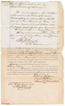 1871 October 16: Bond for defendant in U.S. v. George Vann, for assault with intent to kill in the Indian country; Daniel Ross and Simon Marshall, sureties; Edward Brooks, commissioner