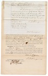 1871 October 24: Bond for defendant in U.S. v. Charles Wilson, for larceny in the Indian country; A. N. Hargrove, surety; Edward Brooks, commissioner