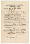 1871 November 17: Bond for witness, Robert Boyle, in U.S. v. Peter Van Norman, for larceny in the Indian country; Edward Brooks, commissioner; also mentions Susan Henderson