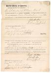 1871 November 27: Bond for Joe Walton, in U.S. v. Joseph Walton, for larceny; Chik-ika and William Ward, sureties; James Churchill, clerk, by J. C. Pritchard, deputy clerk