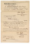 1871 November 27: Bond for appearance in U.S. v. George Grubb, murder in Indian country; James Beaver and Allen Wright, sureties; James Churchill, commissioner