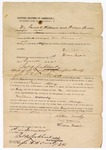 1871 December 1: Bond for Nathan Woosley, in U.S. v. Nathan Woosley, for larceny; David Williams and Hiram Brodie, sureties; James Lockhart, clerk, J.W.W. Orrick, deputy clerk