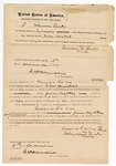 1871 December 16: Bond for defendant, U.S. v. Gans-a-la-va, for assault with intent to kill; Johnson Shade, surety; James Churchill, commissioner