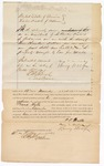 1871 October 4: Bond for appearance, Frank Wells, in  U.S. v. Frank Wells, for larceny in the Indian country; Ben Duval and Henry Wolf, sureties; Edward Brooks, commissioner