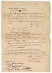 1871 December 1: Bond for Nathan Woosley, in U.S. v. Nathan Woosley, for larceny; David Williams and Hiram Brodie, sureties; James Lockhart, clerk, J.W.W. Orrick, deputy clerk